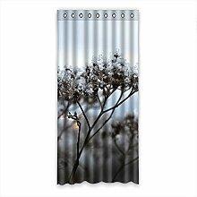 Brauch Frost Fenster Vorhang Window Curtain Licht Beweis Polyester Fabrik für Schlafzimmer oder Wohnzimmer 132 Zentimeters x 275 Zentimeters (ein Stück)