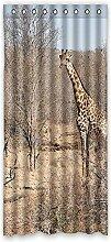 Brauch Giraffe Fenster Vorhang Window Curtain Licht Beweis Polyester Fabrik für Schlafzimmer oder Wohnzimmer 132 Zentimeters x 183 Zentimeters (ein Stück)