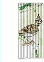 Brauch Lark Fenster Vorhang Window Curtain Licht Beweis Polyester Fabrik für Schlafzimmer oder Wohnzimmer 127 Zentimeters x 275 Zentimeters (ein Stück)