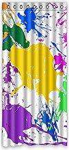 Brauch Multicolour Fenster Vorhang Window Curtain Licht Beweis Polyester Fabrik für Schlafzimmer oder Wohnzimmer 127 Zentimeters x 275 Zentimeters (ein Stück)