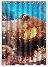 Brauch Octopus Tintenfisch Fenster Vorhang Window Curtain Licht Beweis Polyester Fabrik für Schlafzimmer oder Wohnzimmer 132 Zentimeters x 183 Zentimeters (ein Stück)