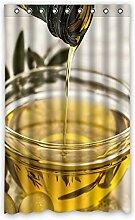 Brauch Olive Branch Ölzweig Fenster Vorhang Window Curtain Licht Beweis Polyester Fabrik für Schlafzimmer oder Wohnzimmer 132 Zentimeters x 213 Zentimeters (ein Stück)