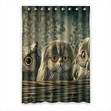 Brauch Owl Eule Fenster Vorhang Window Curtain Licht Beweis Polyester Fabrik für Schlafzimmer oder Wohnzimmer 132 Zentimeters x 183 Zentimeters (ein Stück)
