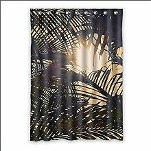 Brauch Palm Tree Fenster Vorhang Window Curtain Licht Beweis Polyester Fabrik für Schlafzimmer oder Wohnzimmer 132 Zentimeters x 183 Zentimeters (ein Stück)
