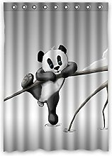 Brauch Panda Fenster Vorhang Window Curtain Licht Beweis Polyester Fabrik für Schlafzimmer oder Wohnzimmer 132 Zentimeters x 183 Zentimeters (ein Stück)