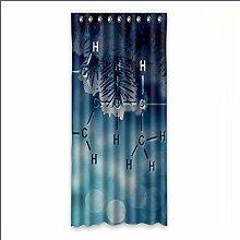 Brauch Pebble Fenster Vorhang Window Curtain Licht Beweis Polyester Fabrik für Schlafzimmer oder Wohnzimmer 127 Zentimeters x 275 Zentimeters (ein Stück)