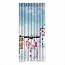 Brauch Snow Schnee Fenster Vorhang Window Curtain Licht Beweis Polyester Fabrik für Schlafzimmer oder Wohnzimmer 127 Zentimeters x 275 Zentimeters (ein Stück)