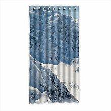 Brauch Snow Schnee Fenster Vorhang Window Curtain Licht Beweis Polyester Fabrik für Schlafzimmer oder Wohnzimmer 127 Zentimeters x 244 Zentimeters (ein Stück)