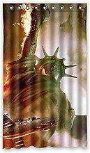 Brauch the Statue of Liberty die Freiheitsstatue Fenster Vorhang Window Curtain Licht Beweis Polyester Fabrik für Schlafzimmer oder Wohnzimmer 127 Zentimeters x 213 Zentimeters (ein Stück)
