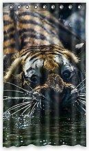 Brauch Tiger Fenster Vorhang Window Curtain Licht Beweis Polyester Fabrik für Schlafzimmer oder Wohnzimmer 127 Zentimeters x 213 Zentimeters (ein Stück)