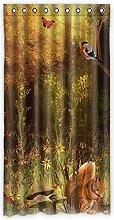 Brauch Tree of Life Baum des Lebens Fenster Vorhang Window Curtain Licht Beweis Polyester Fabrik für Schlafzimmer oder Wohnzimmer 127 Zentimeters x 244 Zentimeters (ein Stück)