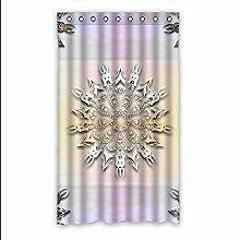 Brauch Tribal Fenster Vorhang Window Curtain Licht Beweis Polyester Fabrik für Schlafzimmer oder Wohnzimmer 127 Zentimeters x 213 Zentimeters (ein Stück)