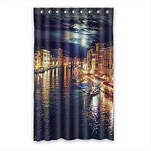 Brauch Venice Venedig Fenster Vorhang Window Curtain Licht Beweis Polyester Fabrik für Schlafzimmer oder Wohnzimmer 132 Zentimeters x 213 Zentimeters (ein Stück)
