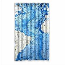 Brauch World Map Fenster Vorhang Window Curtain Licht Beweis Polyester Fabrik für Schlafzimmer oder Wohnzimmer 132 Zentimeters x 213 Zentimeters (ein Stück)