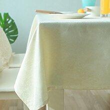 Braun blumen pflanze gelbes muster tischtuch dicke wear-beständige tischtuch-A 140x200cm(55x79inch)