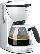 Braun Kaffeemaschine Weiss KF520/1, 10 Tassen