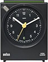 Braun - Sprachgesteuerter Wecker BNC004, schwarz