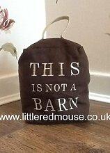 Braun Stoff Türstopper–Das ist nicht A Barn