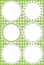 Braun und Grün leer-Aufkleber, Aufkleber, 11,5x