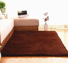 Braun verdicken rutschfeste teppich / wohnzimmer sofa couchtisch schlafzimmer teppich / nacht decke einfarbig teppich ( größe : 50*200cm )