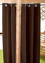 Braun Wasserfest Gebrauchsfertig Außen Ösenvorhang 139.7 x 182.9 cm Pavillon Sommer Haus