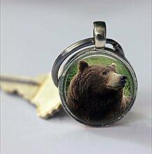 Braunbär-Schlüsselanhänger, niedlicher