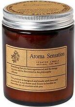 Braune Aromatherapie Kerzen Soja Wachs Kerze