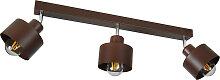 Braune Deckenstrahler Deckenlampe 3PRST6005BR