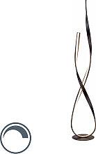 Braune Design Stehleuchte inkl. LED und Dimmer -
