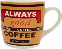 Braune Kaffeetasse im Kaffeehaus Style, Tasse, Becher, 230 ml
