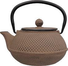 Braune Teekanne aus Gusseisen - Gusseisen - 17,5 x