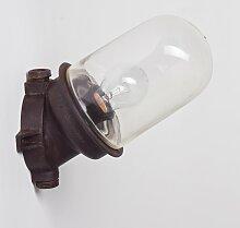 Braune Wandlampe aus Bakelit & Industrieglas,
