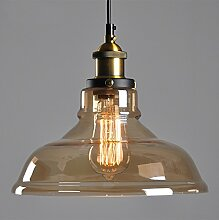 Braunglas Lampenschirm Retro Deckenleuchte Vintage