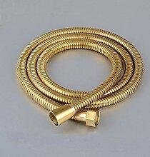 Brauseschlauch 1,5m Golden Brass Hand Gehalten