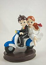 Brautpaar mit Vespa