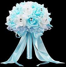 Brautstrauß für die Hochzeit Blau-Weißer
