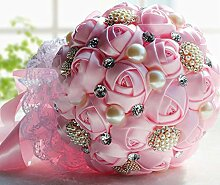 Brautstrauß Geschenke Hochzeit Zubehör ( Color : Rosa )