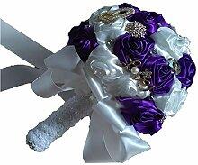 Brautstrauß Hochzeit Blumen Satin Rosen