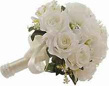 Brautstrauß Hochzeit Blumen Weiß Künstliche