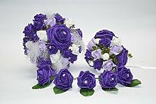 Brautstrauß / Hochzeitsstrauß mit Knopflöchern,