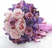Brautstrauß Künstliche Seide mit Rose