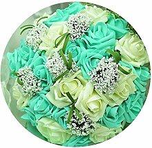 Brautstrauß mit Blumen, romantische Hochzeit,