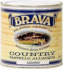 BRAVA coua7Country Pastell-Holz wasserfest, hellblau, 750ml