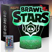 Brawl Stars 3D-Illusionslampe, Schreibtischlampe,