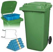BRB 240 Liter Mülltonne grün mit Halter für