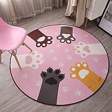 Bre Teppich Frisch und handbemalt Runder Teppich