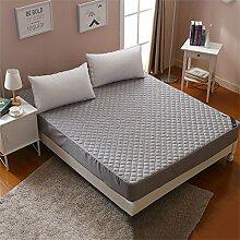 Breathable Rutschfeste Matratze Schutz Matte Polyester Faser Gefüllt Verschiedene Größen ( Farbe : Grau , größe : 135*200cm )