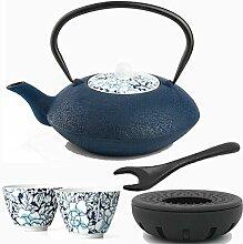 Bredemeijer Blaue asiatische Teekanne Gusseisen