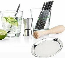 Bredemeijer Caipirinha Gläser Set mit Stößel
