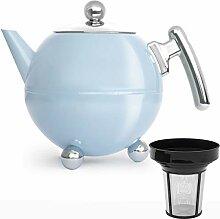 Bredemeijer Edelstahl Teekanne Set 1,2 Liter blau